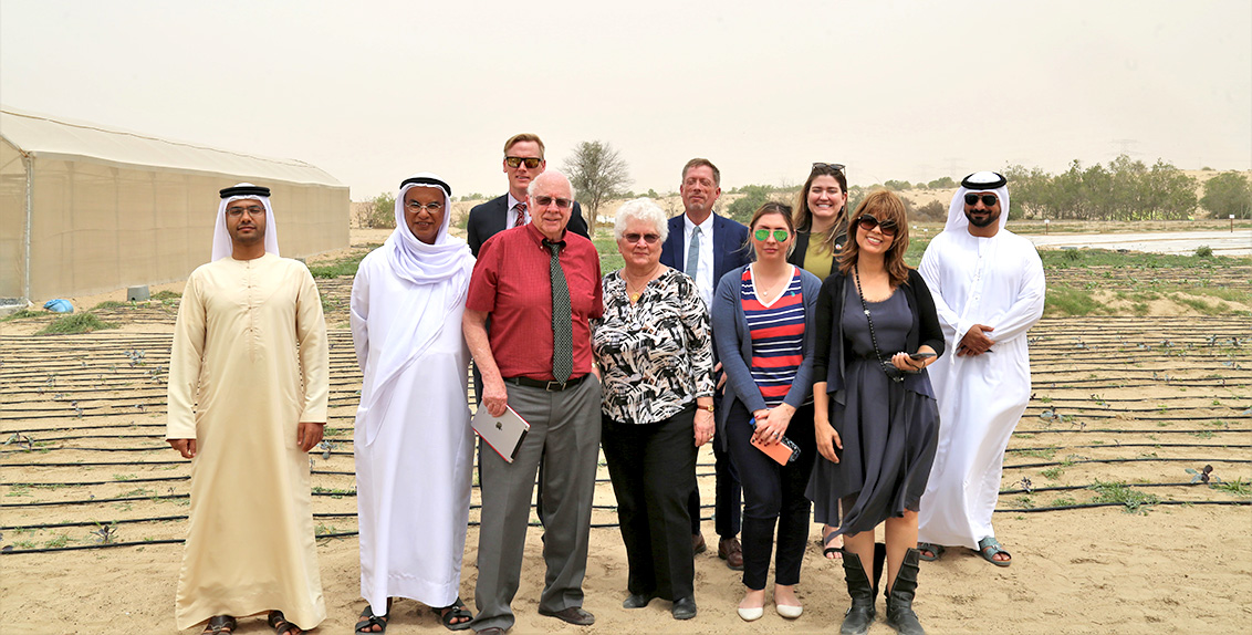 Dr. Merle Jensen, who in the 1960s pioneered biosaline agriculture in the UAE deserts, has visited the International Center for Biosaline Agriculture (ICBA) in Dubai to learn about the center's research-for-development work in marginal environments.