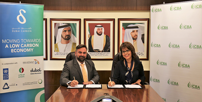 To further strengthen the existing partnership and collaborate more closely in sustainable agriculture and development, the International Center for Biosaline Agriculture (ICBA) and the Dubai Carbon Centre of Excellence (DCCE) joined forces today to work together on sustainability projects.