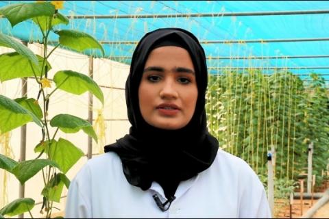 ICBA intern Hamda Al-Masoum (Zayed University, Dubai, UAE)
