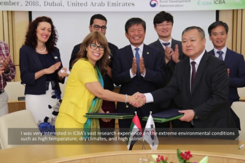 ICBA, South Korean agriculture agency join forces for biosaline R&D
