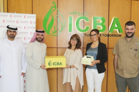 ICBA donates over 500 kg of dates to Emirates Red Crescent